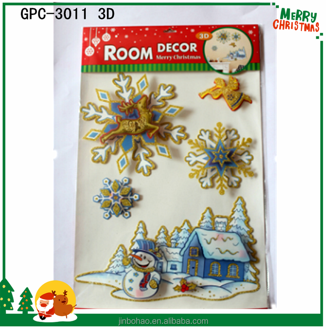 Good Quality 3D Sticker For Cell Phone for Christmas