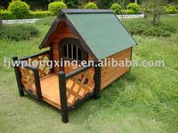 Wooden Dog Kennel With Terrace