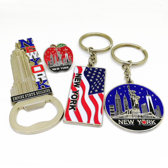2019 custom made enamel metal New York souvenir gift set for <strong>promotion</strong>