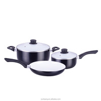pressing aluminum 5 pcs set ceramic coating cookware set