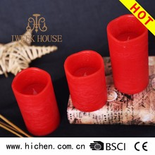 Hot Selling Electric flameless Flickering Lighted Decorative LED Real Wax Candle