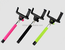 Hot Sale Steel Monopod Automatic Zoom Extendable bluetooth Selfie Stick Self Timer
