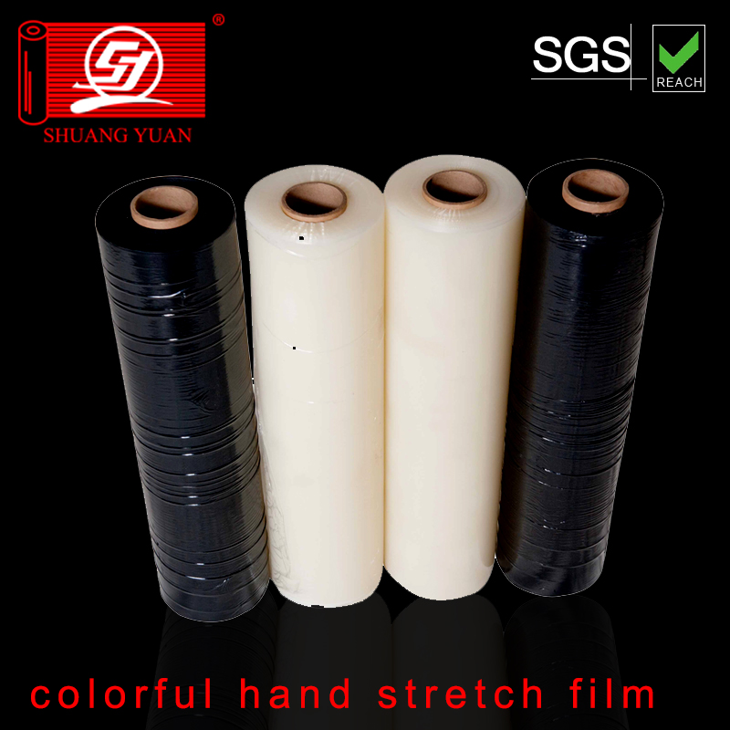 dampproof hand lldpe color wraped film,lldep color stretch wraping film