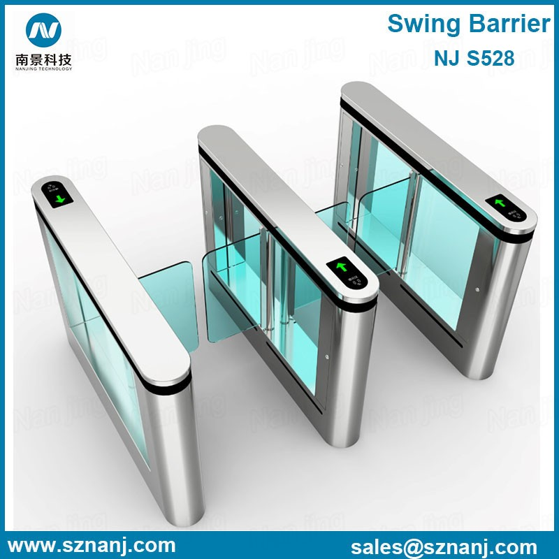Electronic security entrance bi-directional stainless Swing Turnstile Gate