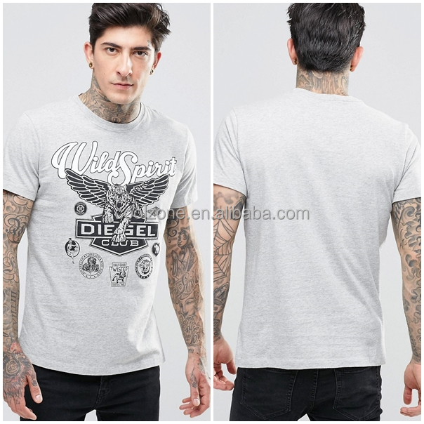New style fashion pattern printing soft jersey man t-shirt slim fit t-shirt