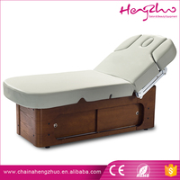 Best quality Electric Therapeutic Bed Thai Massage Table with wooden drawer