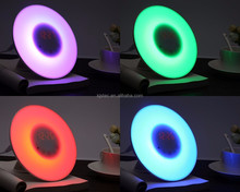 fancy light color changing alarm clock with phone charger