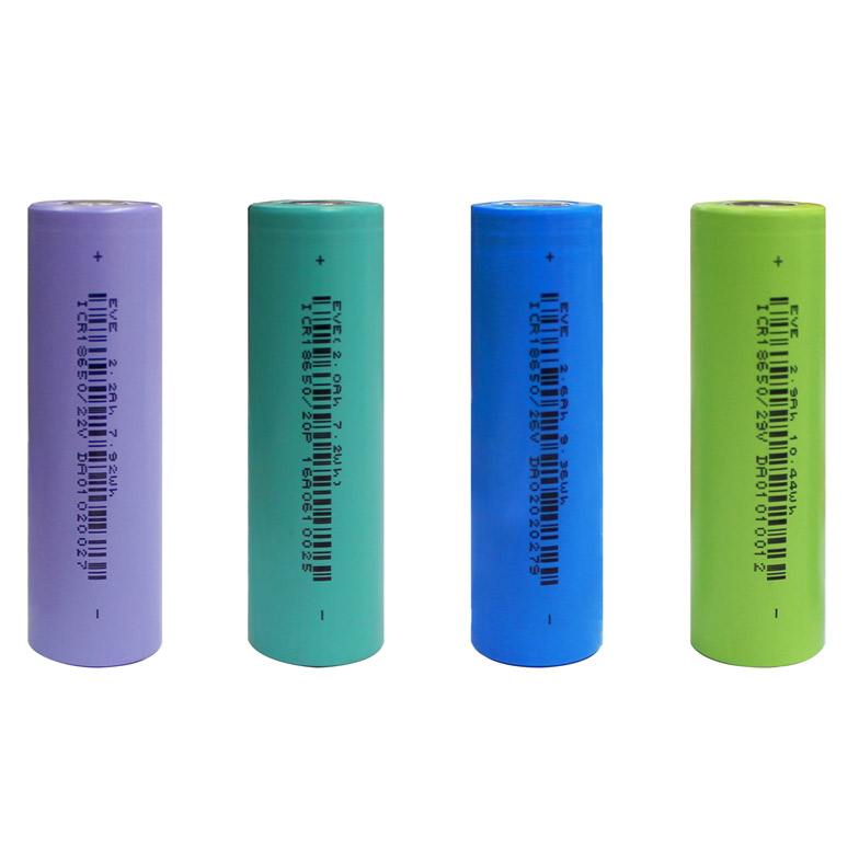 EVE Battery Cylindrical NCM Series Lithium Batteries Li ion 18650 Rechargeable Battery for Power Bank
