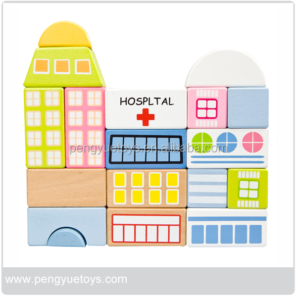 Hospital Building Block Magnetic Wooden Building Block Set for Kids