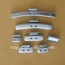 Fe clip on wheel weights for tire balance zinc plated
