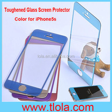 0.26mm/0.33mm Color Tempered Glass Film Screen Protector for iPhone 5 5C 5S with Anti-Shock Function