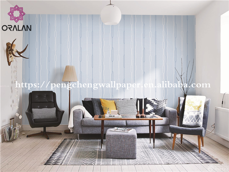 home decoration PVC korea simple design wallpaper size 0.7m*10m production line