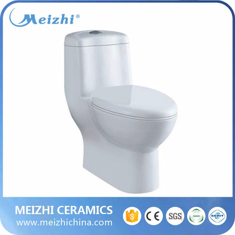 One piece Siphonic ceramic toilet room design