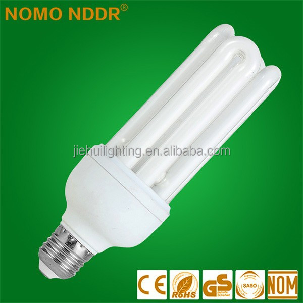 CE 220V E27 30W China U-Type Tri-color CFL Energy Saving Light Bulbs