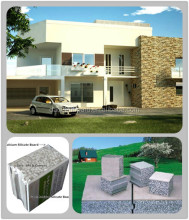 China prefab house/prefabs - Daquan lightweight EPS cement sandwich wall panel building system.