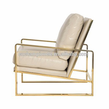 goldfinger sofa/side chair plating gold stainless steel lounge chair