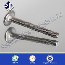 mushroom head screw flat head carriage bolts stainless steel carriage bolt m18