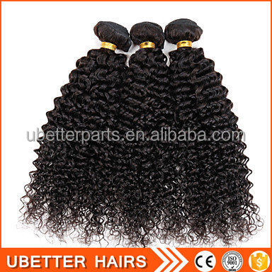 5A Mongolian afro kinky curly hair weave extensions