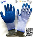 10G Economic white polyester liner knitted blue latex glove,cotton glove ,winter glove