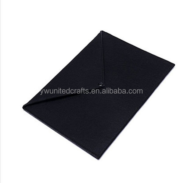 Yiwu factory promotional felt file bag,document bag for business