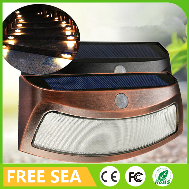 8 LEDs Solar Powered Night Lights Plug In Wall For Outdoor Garden