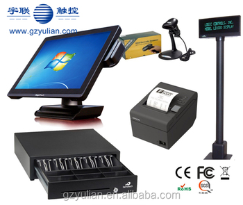 15'' True Flat Touch Screen Fanless POS machine for Retail and restaurant