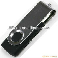 200pcs 1gb Swivel usb flash drive with custom logo Free Shipping