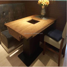 Cheap Restaurant fashion BBQ and hot pot Tables and Chairs
