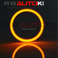 Autoki 8000K Super Bright Led COB Angel Eye White Blue Yellow Red Green Purple led car 110mm angel eye
