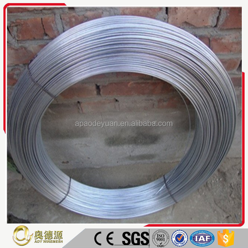 OEM supply low price electro galvanized steel iron wire / low carbon steel wire