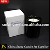 Proffessional factory for black stone marble holder,black marble candle jars