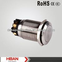CE ROHS IP65 1NO 1NC resistive membrane stainless steel switch