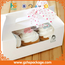 Food grade PVC Window Printing Cardboard Take Away Birthday Cake Boxes