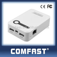 150mbps 5000mAh 3G portable wifi router/mobile phone battery chargers COMFAST CF-WR7100N