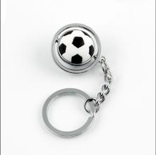 plastic mini soccer ball key chain