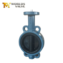 Cast iron 1 6 8 10 inch rubber lining bare shaft wafer butterfly valve