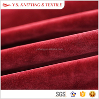 Top grade smooth 100% polyester silk velvet fabric for car interior, mens suit fabric