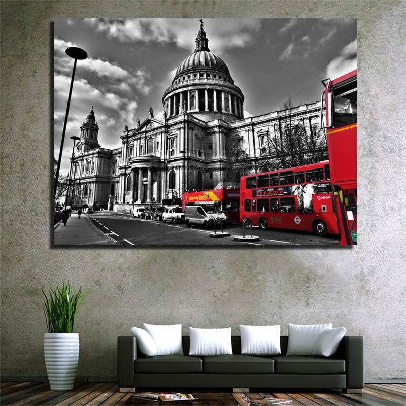 London street painting canvas printing images to paint modern picture