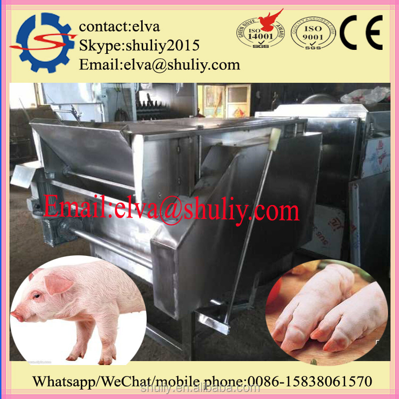 Automated pig feet dehairing sheep feet hair removing processing machine