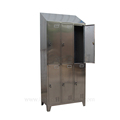 Stainless steel lockers with six doors