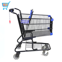 Good quality push cart trolley russian metal kids supermarket shopping trolley for shopping