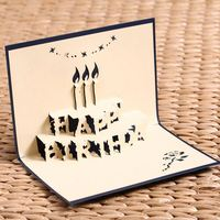 DIY birthday gift box 3D paper postcard