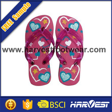 2015 wholesale beautiful girls fashion nude bech slippers,kids flip flop slipper