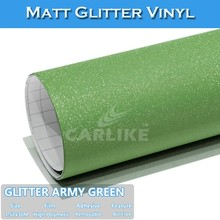 CARLIKE Hot Sell Matt Glitter Black Flashing Film For Car Wraps
