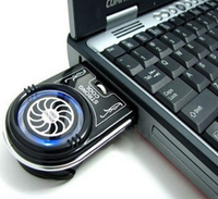 Mini Vacuum Air Extracting USB Case Cooling Cooler Fan For Notebook Laptop Black