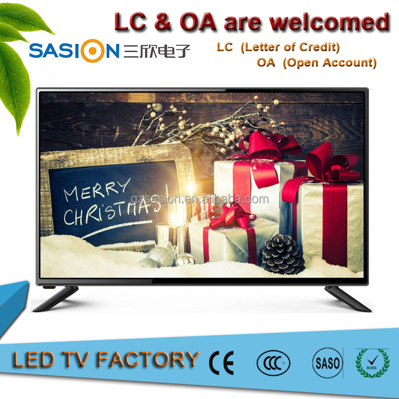 Christmas gift smart super slim eled lcd 1080p fhd crown price led tv 32