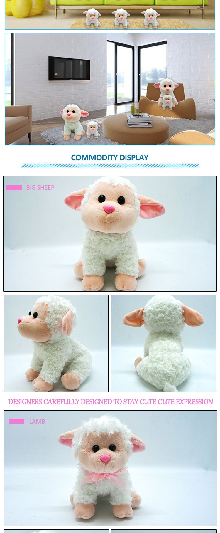 Soft Toys for Children Plsuh Sheep