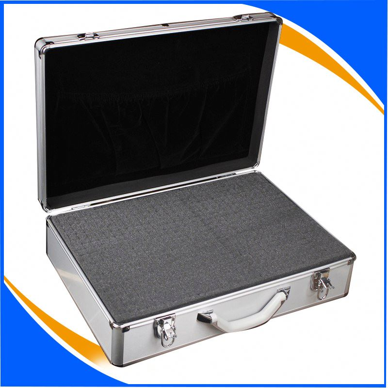 Reinforced Chrome Metal Corner Contain High Density Foam Hard STORAGE and CARRYING case 2 Security lock with Key Adjustable, det