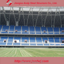 Football Stadium Shed with Long Span Steel Space Truss Structure