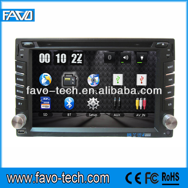 6.2 inch Touch Screen universal double din auto radio car dvd